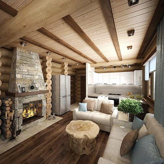 фото деревянных домов из бревна внутри него царила нездоровая
