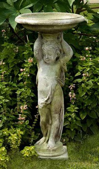 Cherub Bird Bath Outdoor Religious Garden Statue Statuary 640 x 480
