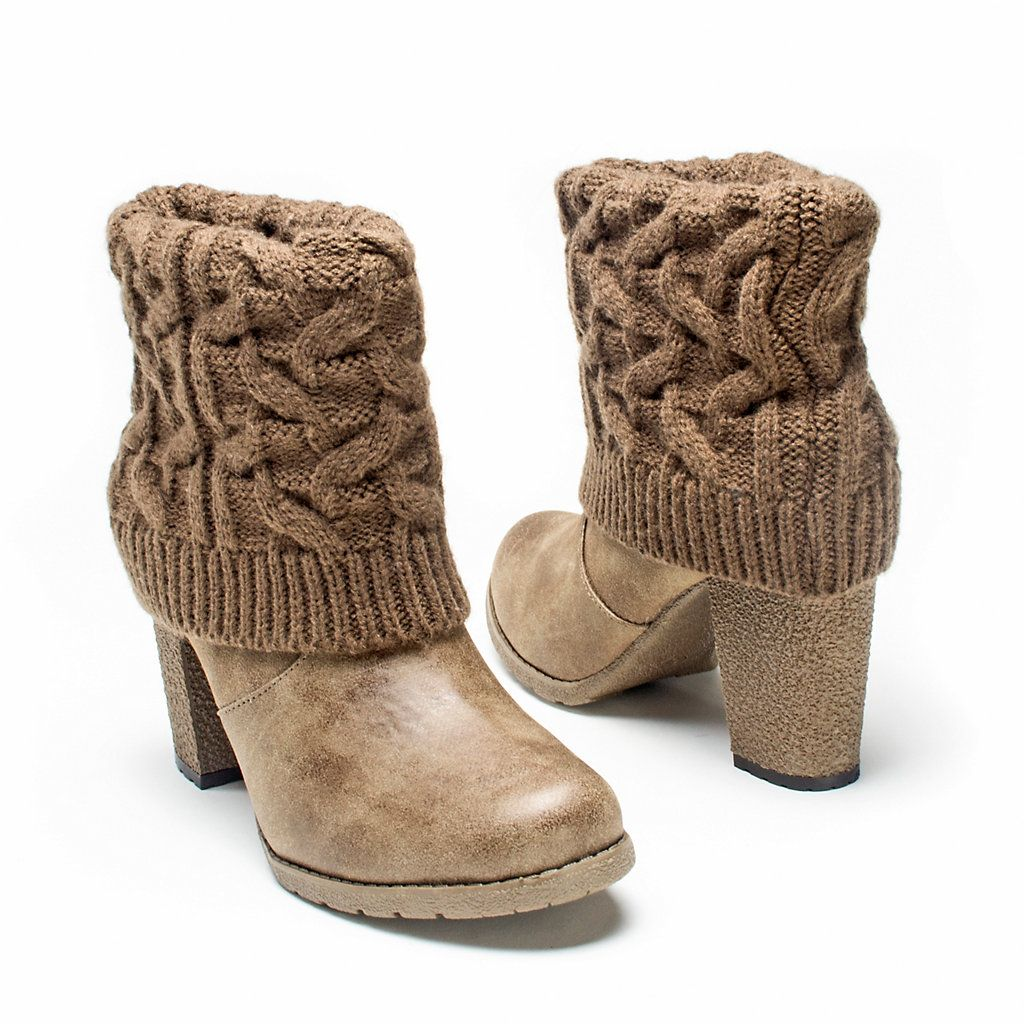 Muk Luks Chris Womens Sweater Cuff Ankle Boots Boots And Shoes