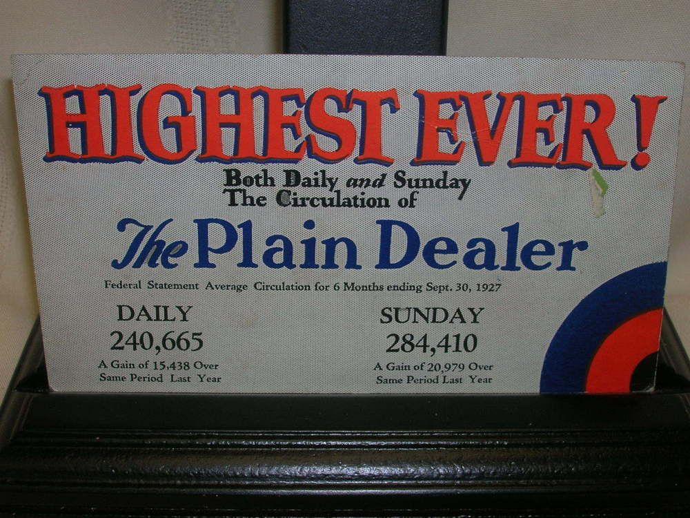 Vintage 1927 Ink Blotter The Plain Dealer Cleveland Ohio #ThePlainDealer