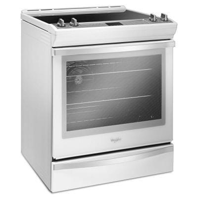 Whirlpool 6.4 cu. ft. Slide-In Electric Range with True Convection in White Ice…