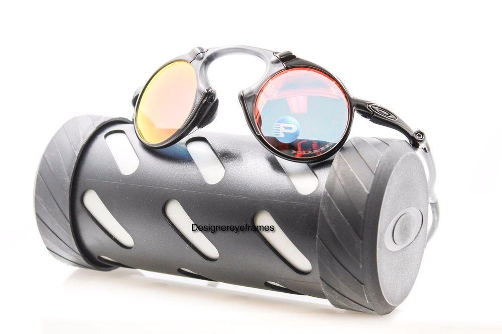 de15291da6 OAKLEY Madman OO 6019-04 Dark Carbon W Ruby Irid Polarized Sunglasses NWT  AUTH