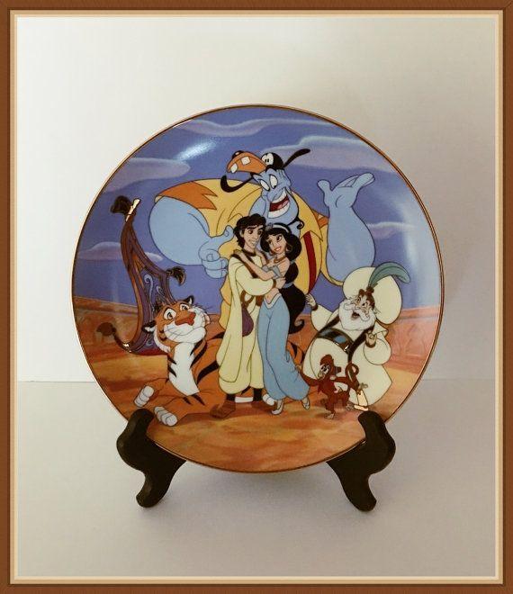 Walt Disney Aladdin Plate Jasmine Group Hugs by bettysworld4u