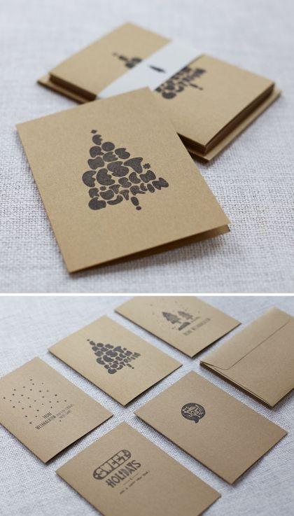 Handbedruckte Weihnachtskarten Weihnachtskarten