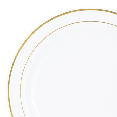7.5\ +White+Gold+Rim+Plastic+Salad+Plates  sc 1 st  Pinterest & 7.5\