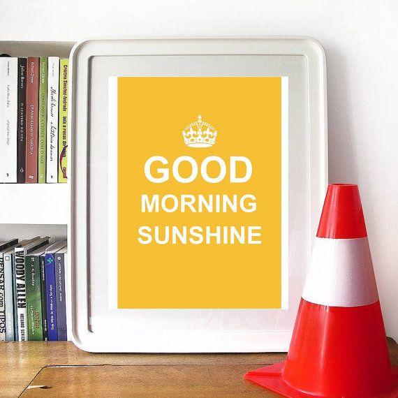 Good morning Sunshine print  8x10 digital JPEG by LittleThingShop, $5.90