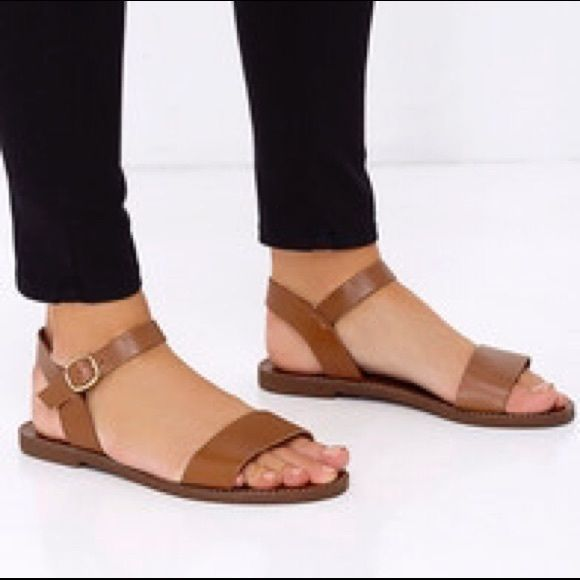 Minimalist brown strap sandals