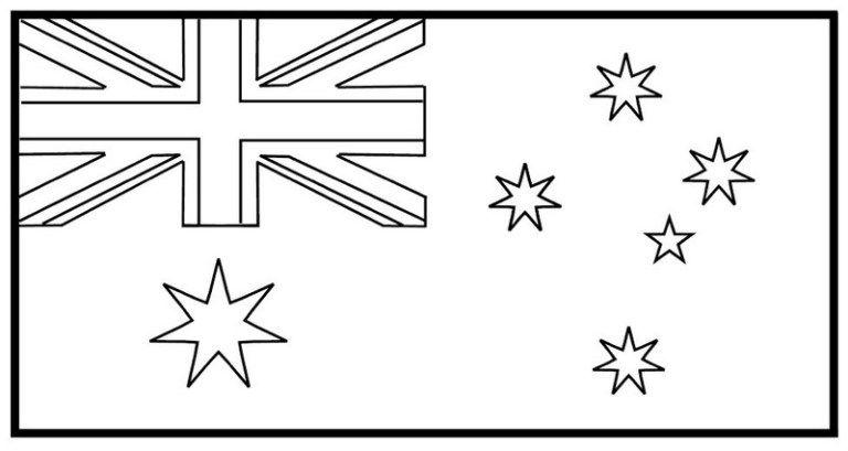 Best Australia Flag Coloring Page Flag Coloring Pages Australia Flag Coloring Pages