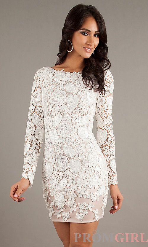 67ecd0898c2 Short White Lace Dress