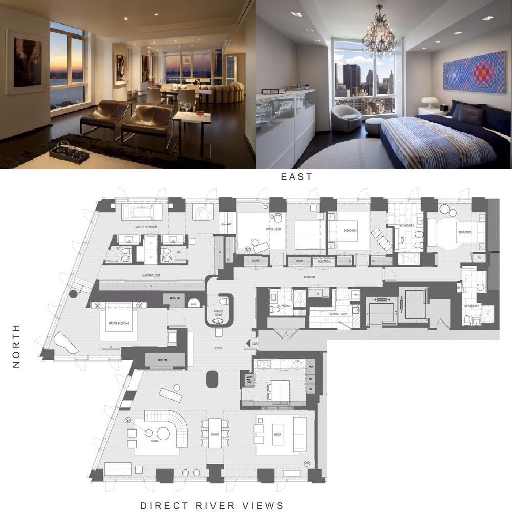 Apartments New York New York: 200 Chambers Street #PH C Sold For $13,000,000