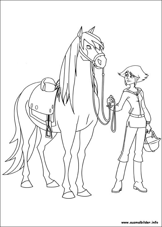 Ausmalbilder Pferde Lenas Ranch Anleitungen Coloring Pages