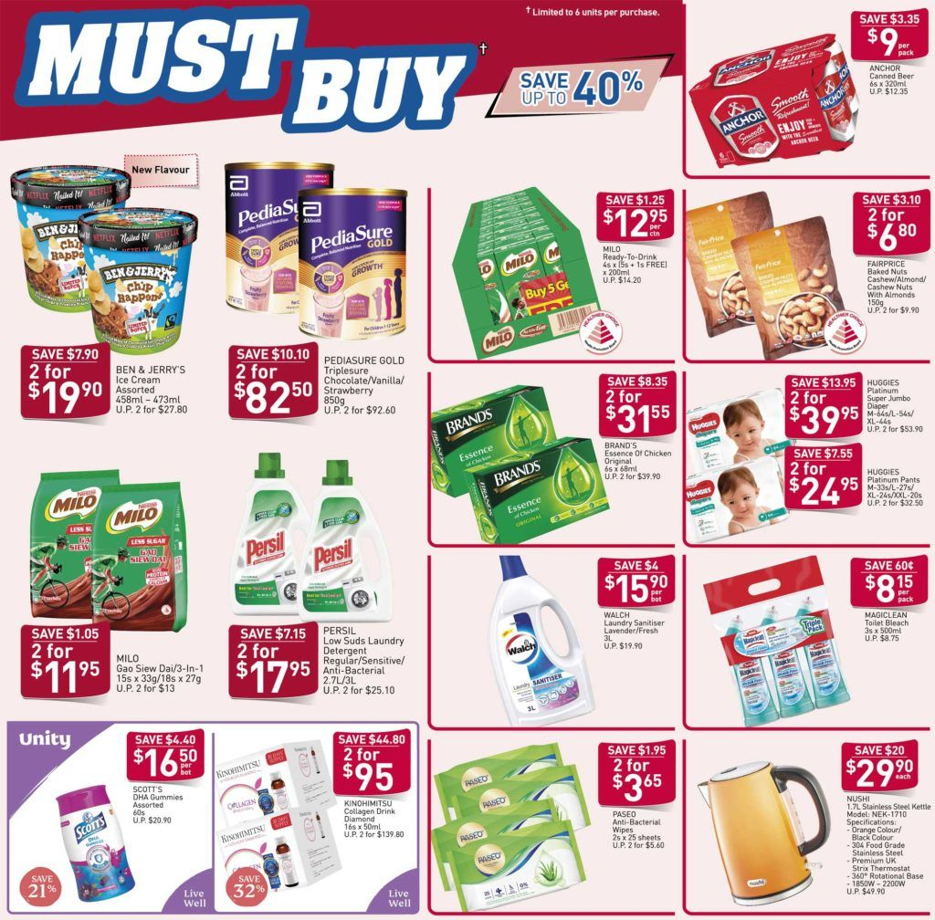 Ntuc Fairprice Your Weekly Saver Promotion 19 25 Mar 2020 Savers New Flavour Pediasure
