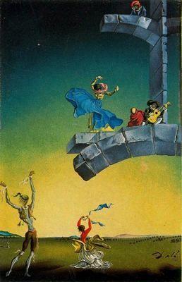 Sin título - Salvador Dalí - 1946. Óleo sobre lienzo. 36.1 x 24.1 cm. Propiedad particular.
