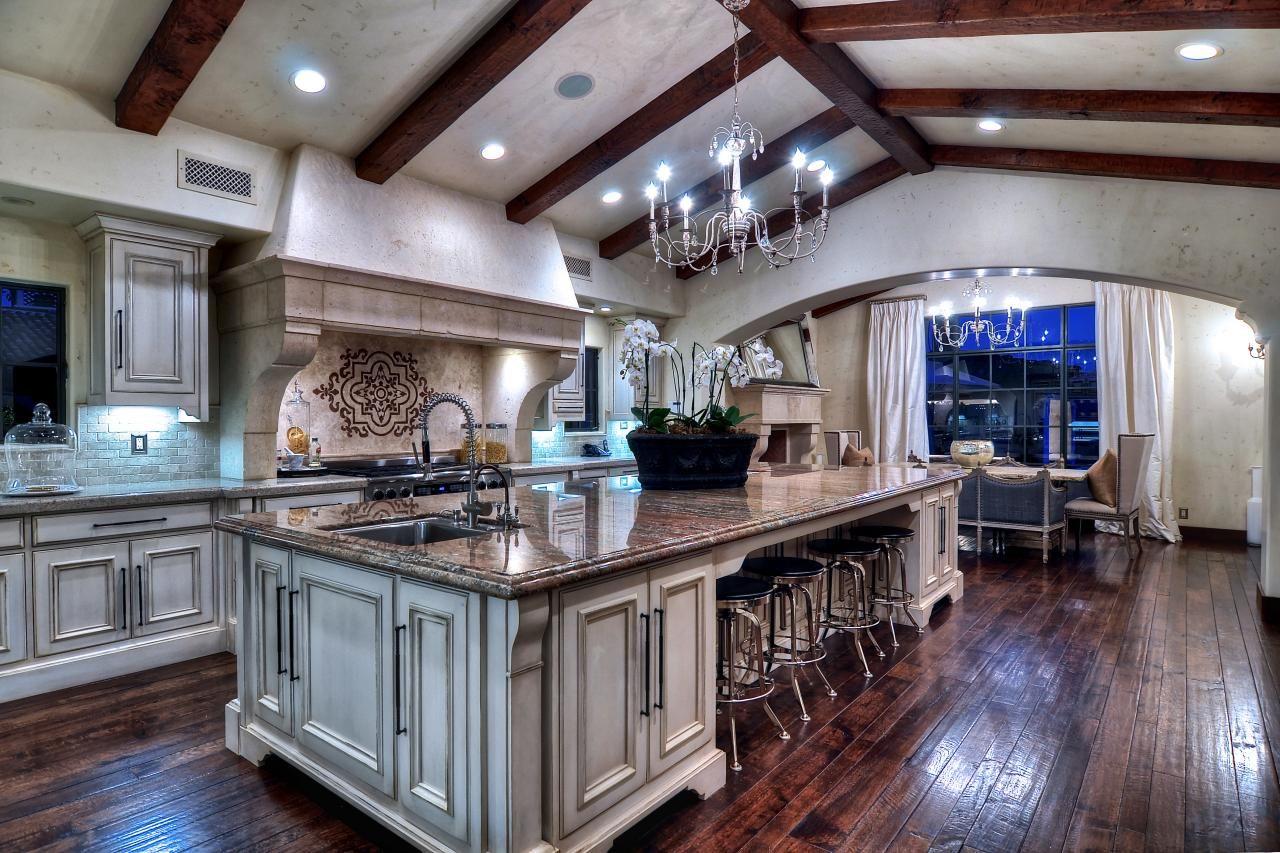 Dream Rustic Kitchens Rustic Meets Elegant In Irvine Calif Ceiling Cozy And Hgtv