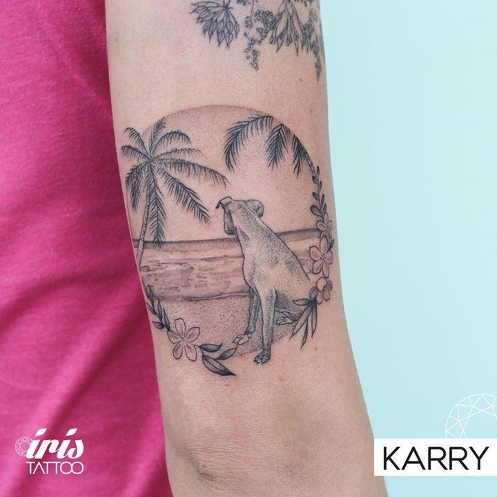Butterfly tattoo by karry from iris tattoo miami