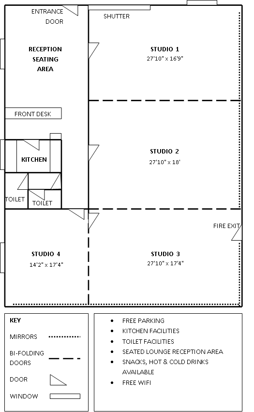 Studio Floor Plan. From what I can tell the dimensions are ...