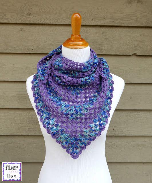 Fiber Flux: Free Crochet Pattern...Larkspur Shawlette! | crochet ...