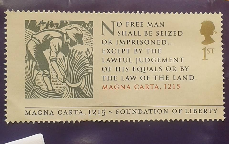 Royal Mail has issued a Magna Carta stamp.2015