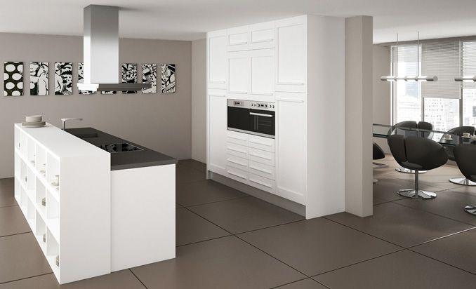 Cocinas sencillas y de calidad en espacios abiertos con mucha