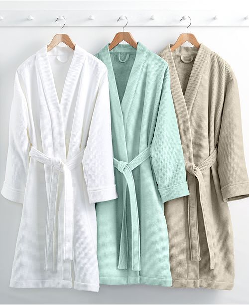 Waffle Weave Robe 100 Turkish Cotton Created For Macy S
