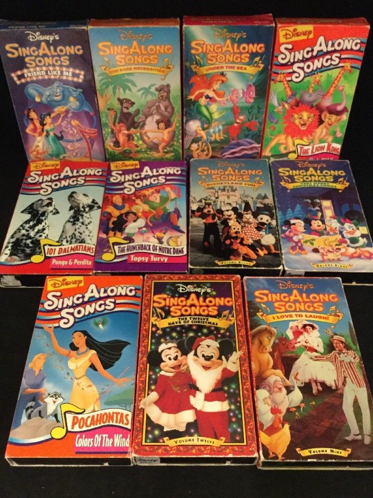 disney vhs lot of 12 sing along songs 11 days of christmas very merry christmas