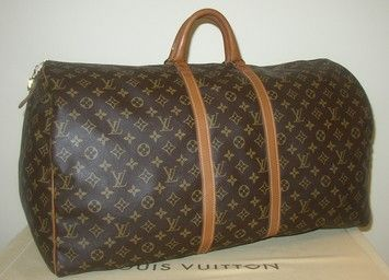 Louis Vuitton Caroldiva Auth Monogram Canvas Keepall 60 Brown Travel Bag $740