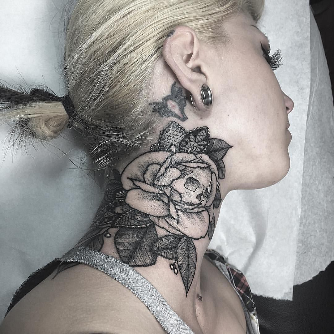 75 best rose tattoos for women and men to ink tattoo for Best neck tattoos