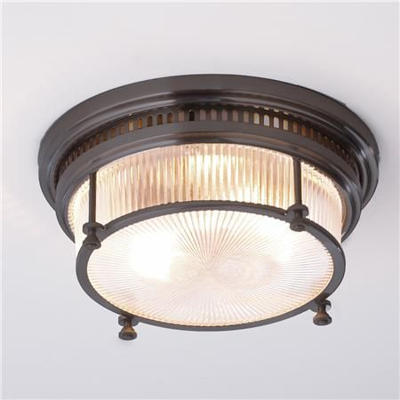 Fresnel Glass Industrial Flush Mount Ceiling Light With Images