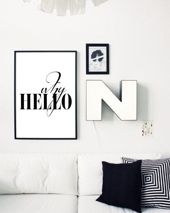 Why Hello Poster Scandinavian Print Fashion Quote Wall Art Etsy Scandinavian Print Poster Prints Wall Art Quotes