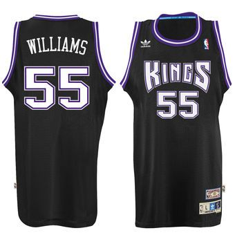 56770c0c23c Men s Sacramento Kings Jason Williams adidas Black Hardwood Classic  Swingman Jersey