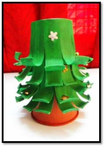 Paper Cup Christmas Tree Christmas Crafts Paper Cup Craft Party