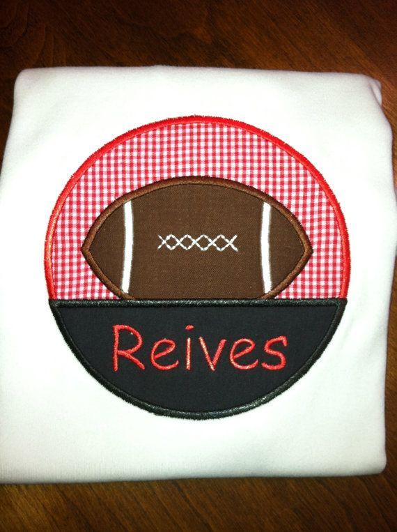 Football shirt, Georgia bulldogs, Georgia Tech, personalization included on Etsy, $20.00