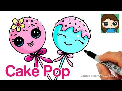 Summer Treats How To Draw A Popsicle And Snow Cone Easy Cute