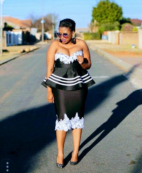 Modernised Mbhaco African Traditional Dresses Xhosa