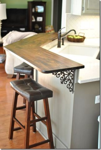 DIY Kitchen Bar Top