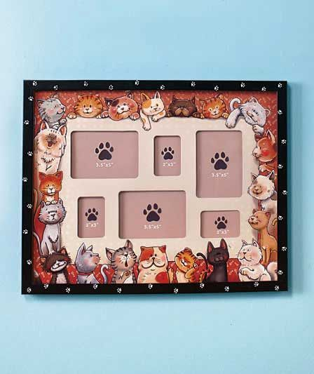 Furry Friends Cat Dog Collage Frame   Doggie Kitty Diva Items ...