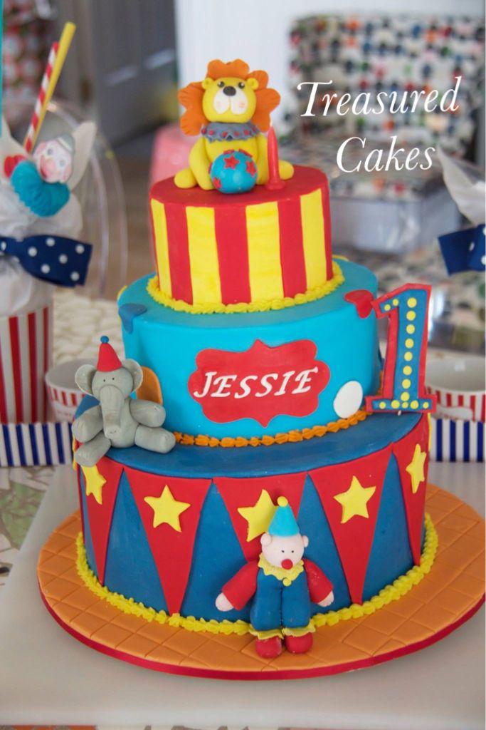 Birthday Cake For A Delightful Little Boy Circuscake