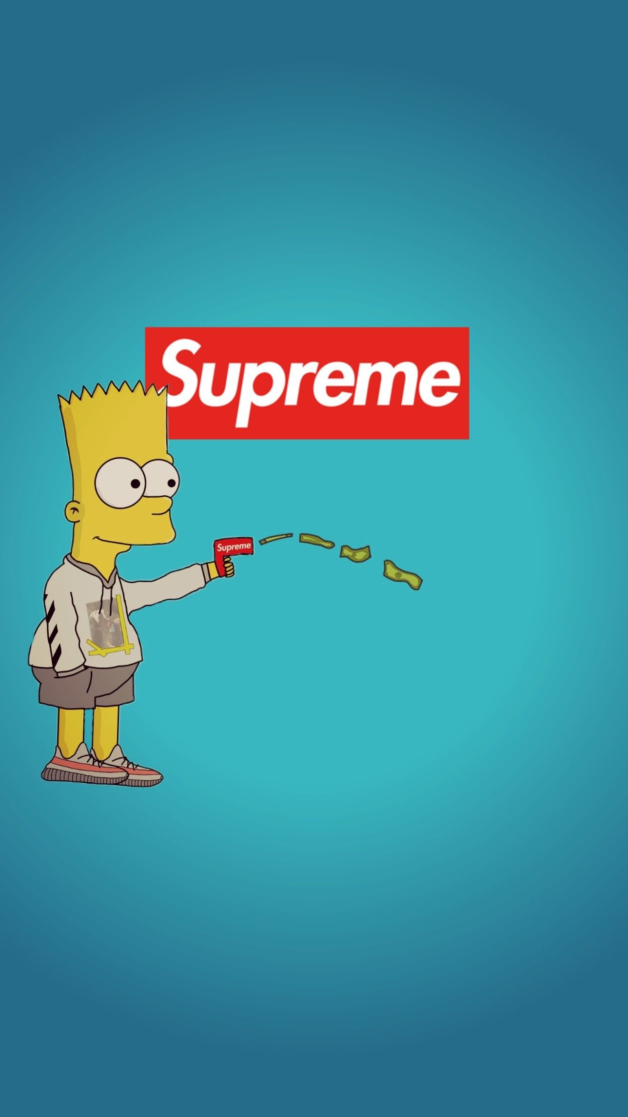 Supreme Wallpaper Bart Simpsons Supreme Wallpaper Bart