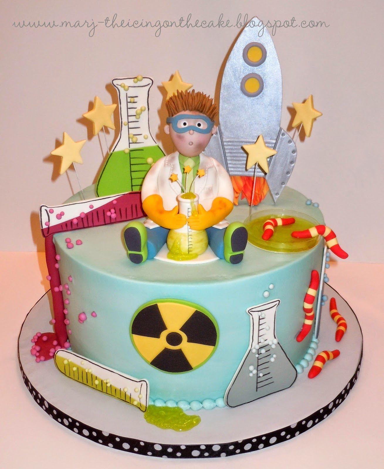 Peachy Eureka Science Cake Birthday Cake Kids Scientist Birthday Birthday Cards Printable Inklcafe Filternl