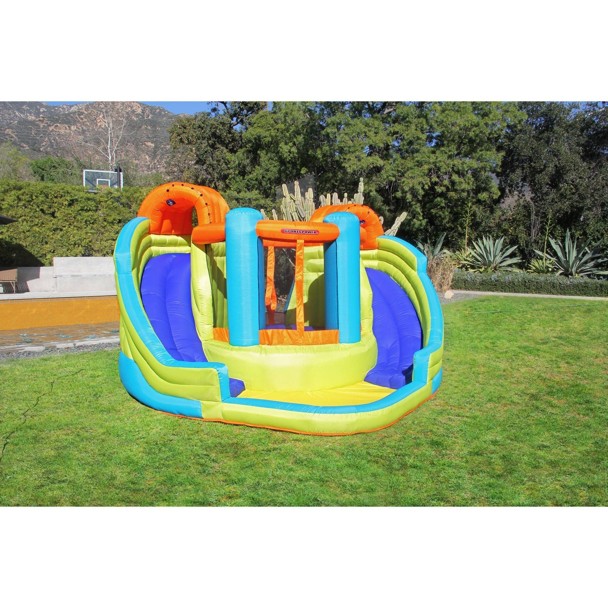 sportspower double slide and bounce inflatable water slide inf