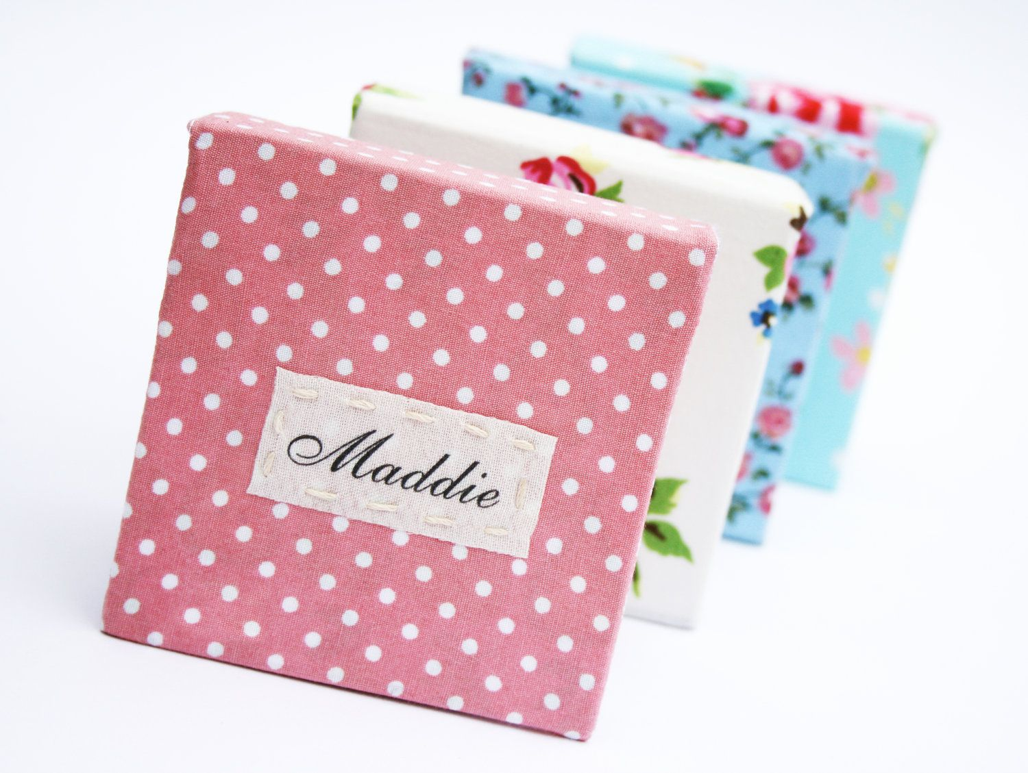 Personalised Handmade Fabric Notebook Wedding Favours. £3.50, via ...