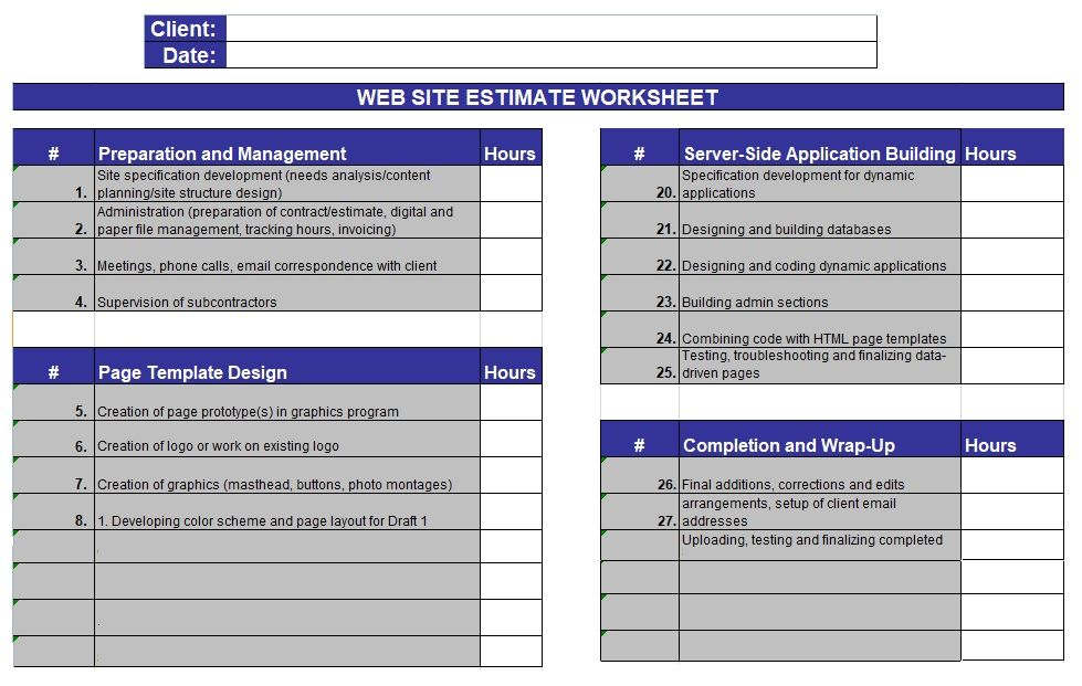 Cost Estimate Template (With images) Estimate template
