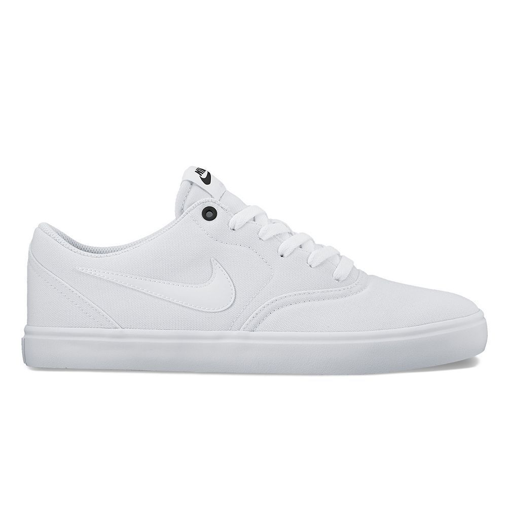 new arrival 6ae6d 56c55 Nike SB Check Solarsoft Men s Skate Shoes, Size  7.5, White Oth