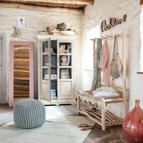 tapis en coton vert d 39 eau 200x140cm boheme ma chambre. Black Bedroom Furniture Sets. Home Design Ideas