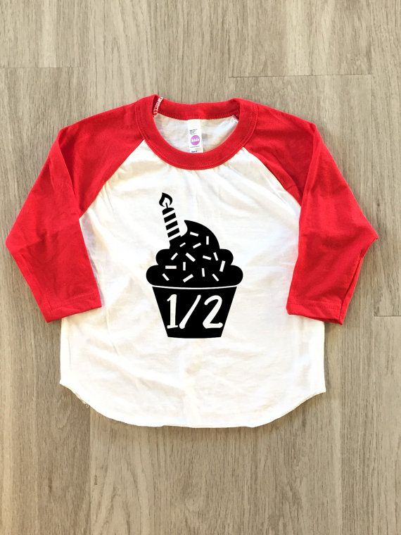 Cupcake Half Birthday Shirt 1 2 Tshirt Baby Boy