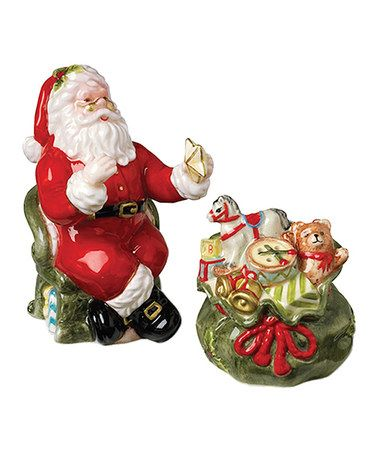 Take a look at this Santa & Gift Bag Salt & Pepper Shakers by Kaldun and…