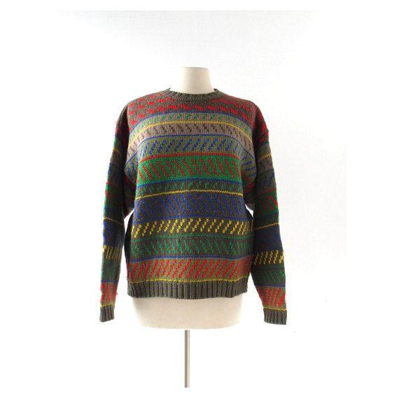 1980s Esprit oversize wool sweater