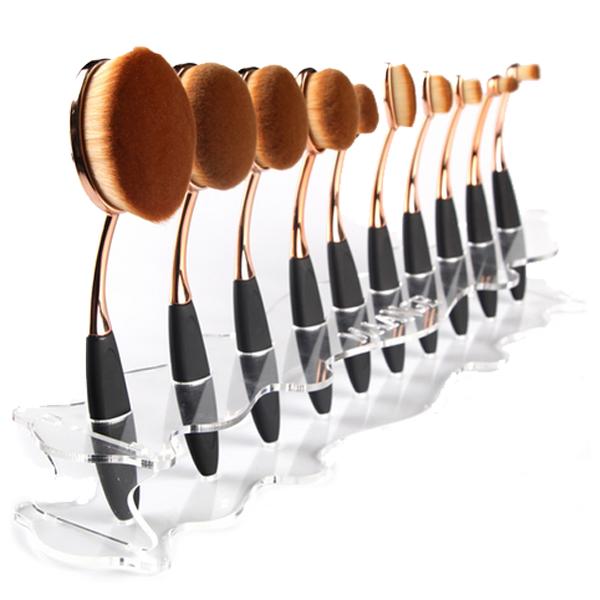 Oval Brush Holder Stand Oval brush set, It cosmetics