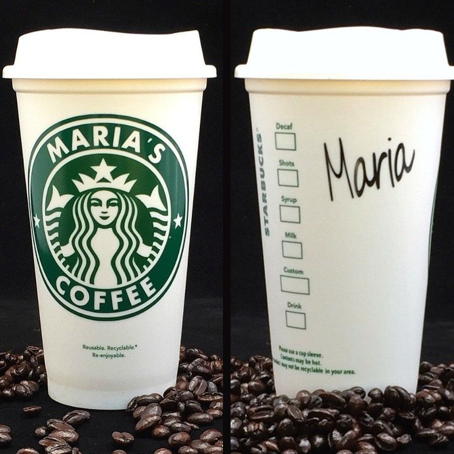 Esta había personalizada Starbucks taza características su