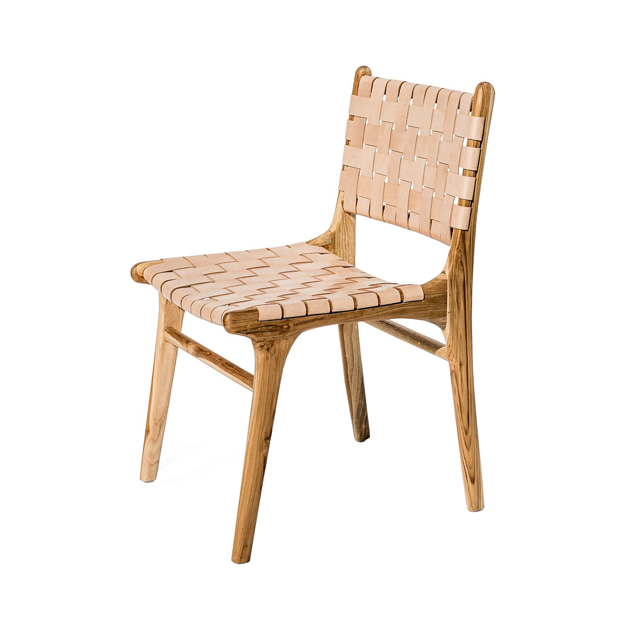 Katjia Woven Leather Chair From Souk Collective Uk Chair Dining Chairs Leather Dining Chairs